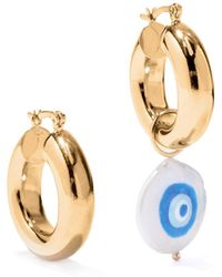 Joolz by Martha Calvo Protection Mismatched Pearl & Gold-plated Earrings - Metallic