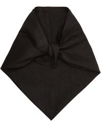 ART SCHOOL リネン ヘッドスカーフ - ブラック