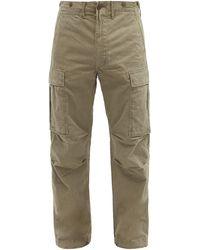 RRL Pantalon cargo en sergé de coton - Vert