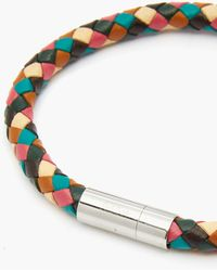 Paul Smith - Woven-leather Bracelet - Lyst