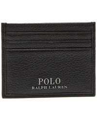 Polo Ralph Lauren - Textured Leather Card Holder - Lyst