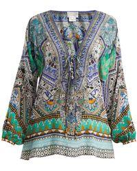 Camilla - Everlasting Udaipur Silk Blouse - Lyst
