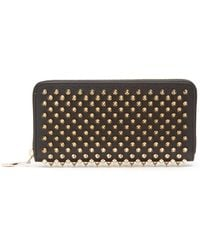 Christian Louboutin - Panettone Spike-embellished Leather Wallet - Lyst