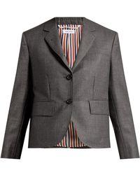 Thom Browne - Striped Wool Suit Jacket - Lyst