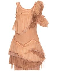 Roberto Cavalli - Sleeveless Ruffled Silk-chiffon Dress - Lyst