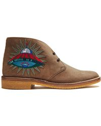 Gucci - New Moreau Suede Desert Boots - Lyst