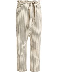 MASSCOB - Paper Bag Waist Striped Trousers - Lyst