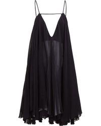 Jacquemus Robe en mousseline Belleza - Noir