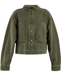 Valentino - Patch Pocket Denim Cropped Jacket - Lyst