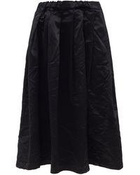 Comme des Garçons Comme Des Garçons Girl パフサテンスカート - ブラック