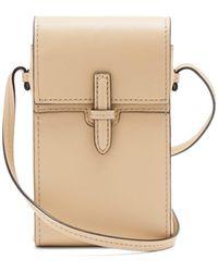 Hunting Season Mini Leather Cross-body Bag - Natural