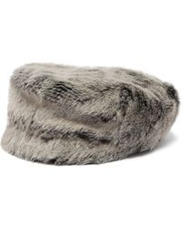 Lola Hats - Capote Faux Fur Cap - Lyst