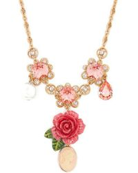 Dolce & Gabbana - Floral, Crystal And Charm Necklace - Lyst