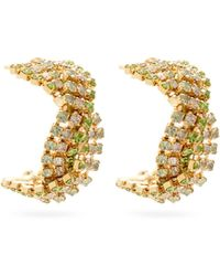 Rosantica Chevron Crystal-embellished Earrings - Multicolor