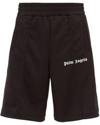 Palm Angels Short de jogging en jersey technique à bandes - Noir