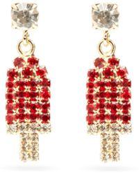 Rosantica Gelateria Crystal Drop Earrings - Red