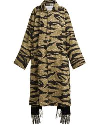 Vetements - Reversible Camouflage And Scarf Trench Coat - Lyst