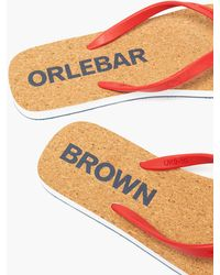 Orlebar Brown Haston Rubber Flip Flops - Red