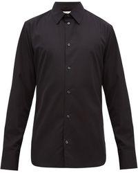 The Row Jasper Cotton-poplin Shirt - Black