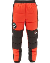 The North Face Nse Lhotse Bi-colour Quilted Down Shell Trousers - Orange