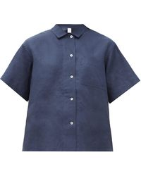 Rossell England - リネンパジャマシャツ - Lyst