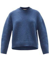 Brock Collection ドロップショルダー カシミア セーター - ブルー