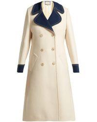 Gucci - Gardenia Wool Coat - Lyst