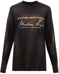 Martine Rose ロゴプリント ウォッシュドコットンtシャツ - ブラック