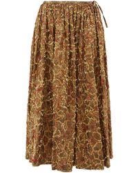 Ashish Sequinned Brocade Midi Skirt - Metallic