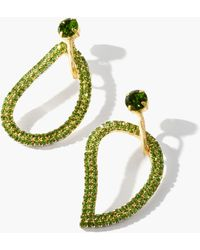 Zeus+Dione X Ileana Makri Lachouri Crystal Drop Earrings - Green