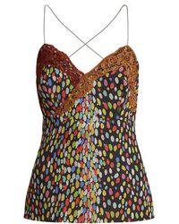 Marco De Vincenzo - Multicoloured Leopard-print Silk Cami Top - Lyst