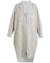 Rachel Comey - Risible Embroidered Striped Cotton Shirtdress - Lyst