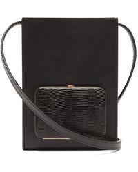 Lutz Morris Parker Grained-leather Cross-body Bag - Black