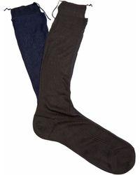 Raey Frankenstein Silk Socks - Blue