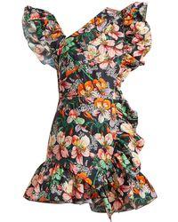 Isabel Marant - Malvern Ruffle-trimmed Floral-print Dress - Lyst