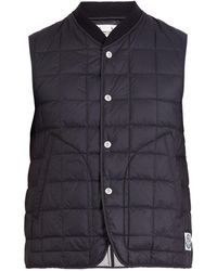 Moncler Gamme Bleu Square Quilted Down Gilet - Black