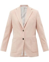 Officine Generale Charlene Single-breasted Cotton-corduroy Jacket - Pink