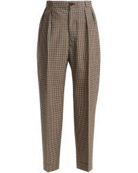 54d759c7d7224 Agnona Wool-tweed Straight-leg Pants in Brown - Lyst