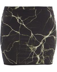 Vetements ライトニングプリント ジャージーミニスカート - ブラック
