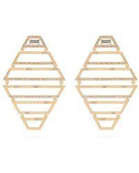 Susan Foster - - Diamond & Yellow Gold Earrings - Womens - Gold - Lyst