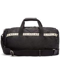A.P.C. Repeat Logo Gym Bag - Black