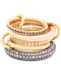 Spinelli Kilcollin | Nexus Diamond, Silver & Gold Ring | Lyst