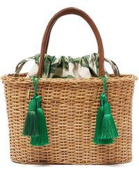 Glorinha Paranagua Palermo Woven Wicker Basket Bag - Green