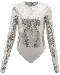 Valentino Sequinned Jersey Bodysuit - Metallic