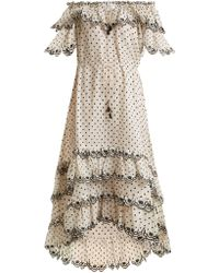 90b7645b97 Zimmermann - Jaya Off The Shoulder Linen Dress - Lyst