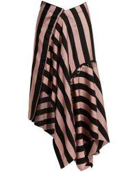Marques'Almeida - Loop-decorated Asymmetric Draped Skirt - Lyst