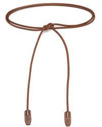 Acne Studios - - Rope Leather Belt - Womens - Dark Brown - Lyst