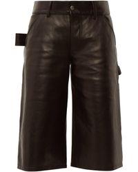 Bottega Veneta Short utilitaire en cuir - Noir