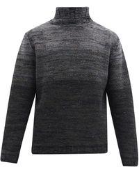 Inis Meáin Ombre Merino-wool Blend Jumper - Grey