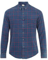 Faherty Brand - Ventura Windowpane-plaid Cotton Shirt - Lyst